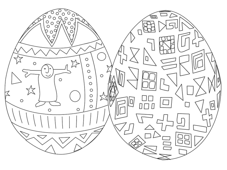 Best Coloring Pages Free Easter Egg