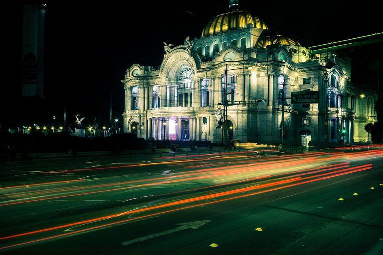 Mexico City at night