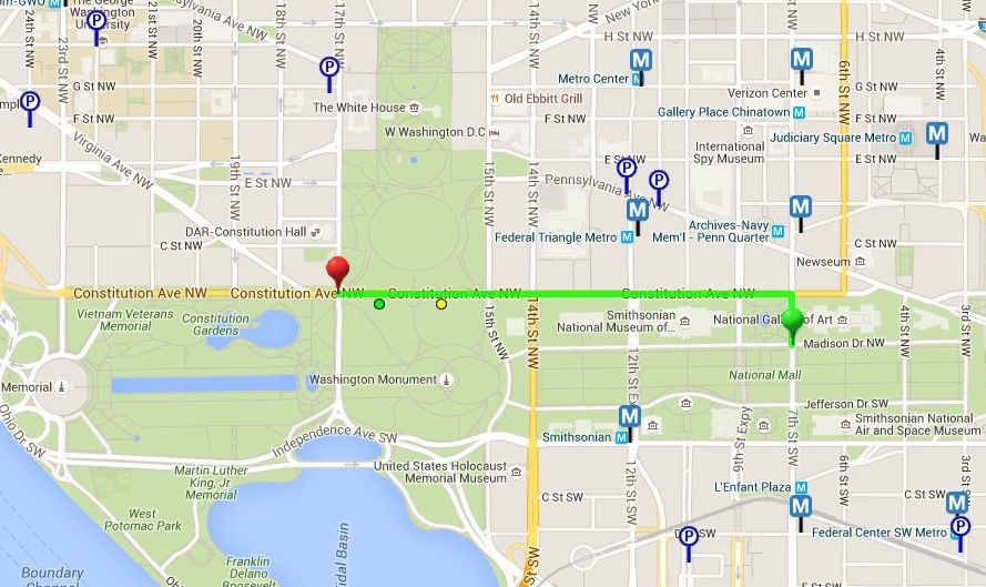 Washington DC 4th of July Parade Route Map