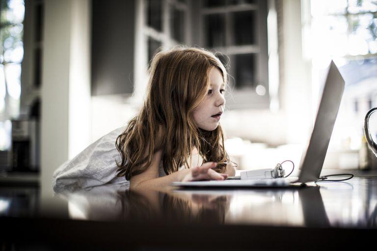 Girl Using MacBook