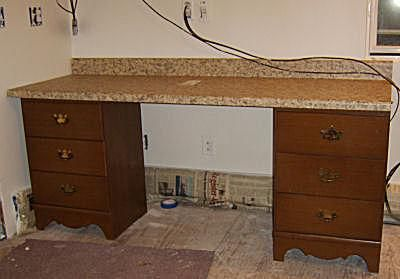 6 Feet of Sewing Machine Desk Space with Drawers