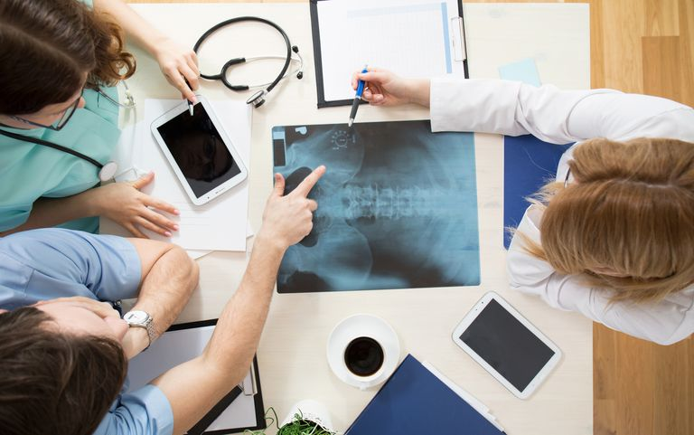 Doctors looking for signs of osteoporosis in x-ray