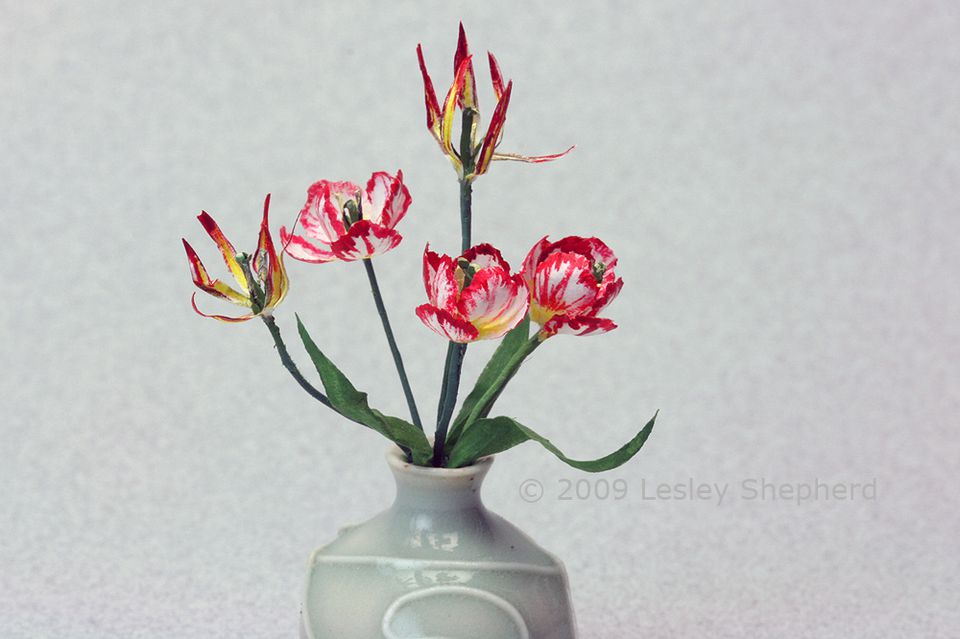 how to make dollhouse tulips