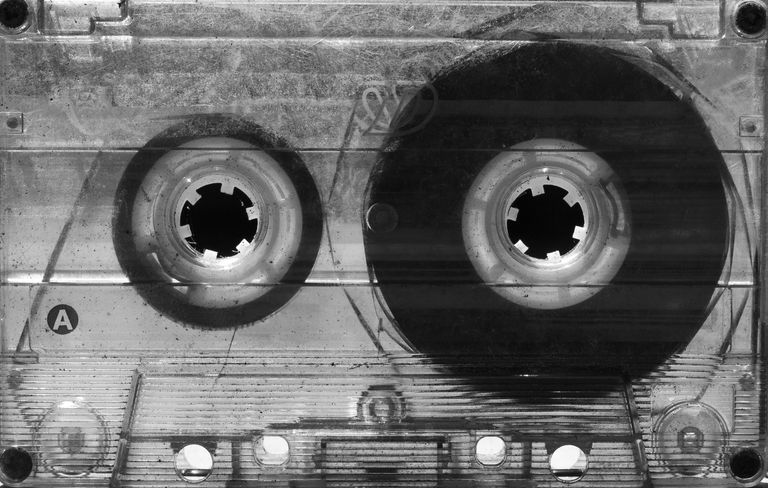 Old fashioned cassette tape