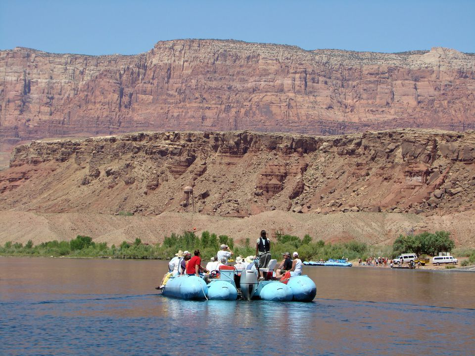 Rafting is a popular way to see the canyons.