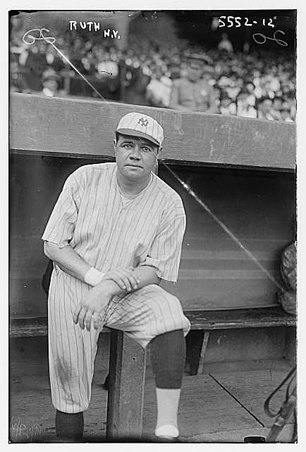 A picture of Babe Ruth in 1921.