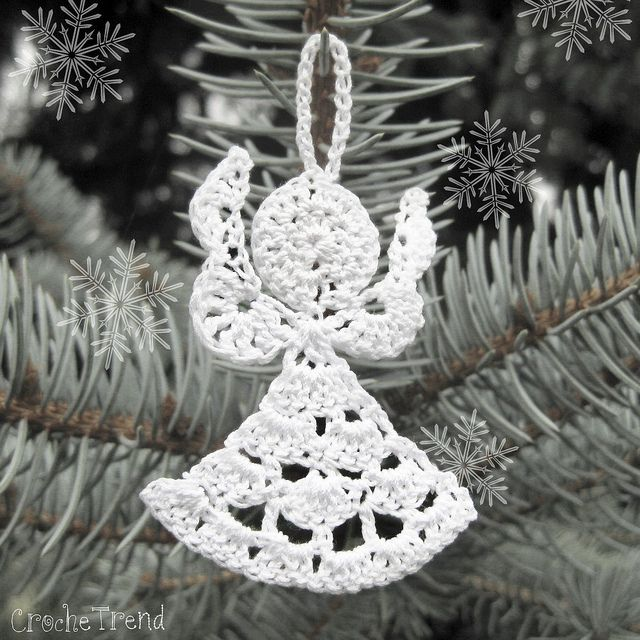 Angel Christmas Ornament FREE Crochet Pattern