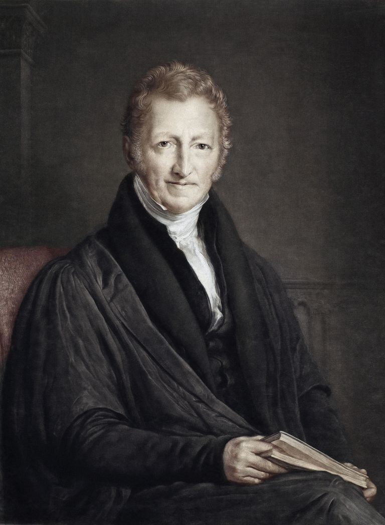 Thomas Malthus Colour Portrait Population
