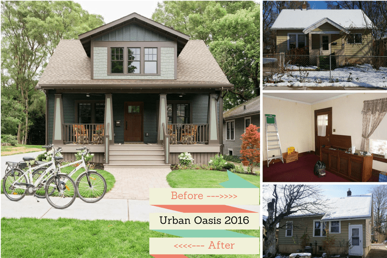 Before and After Shots of the 2016 Urban Oasis Home