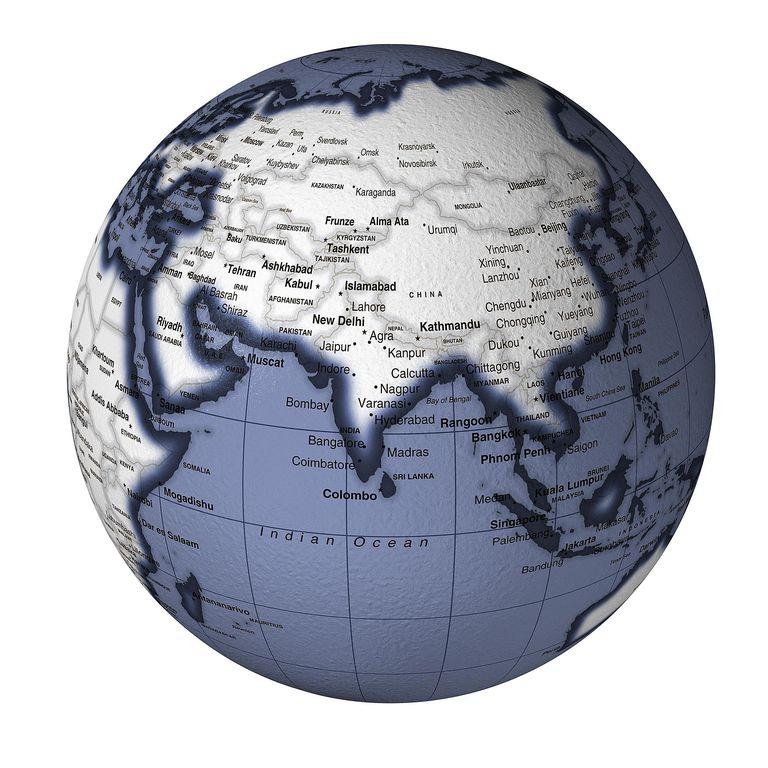 Globe Showing Asia