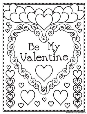 Valentines Day Coloring Pages Free Printable Fascinating 543 Free Printable Valentine's Day Coloring Pages