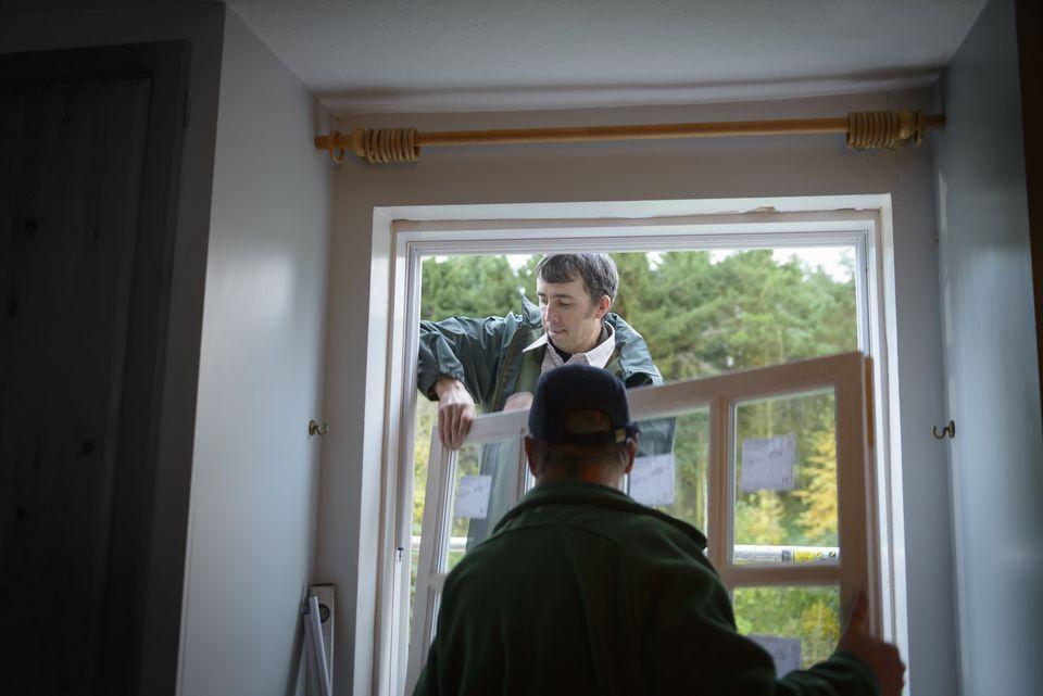 Installing new window in house