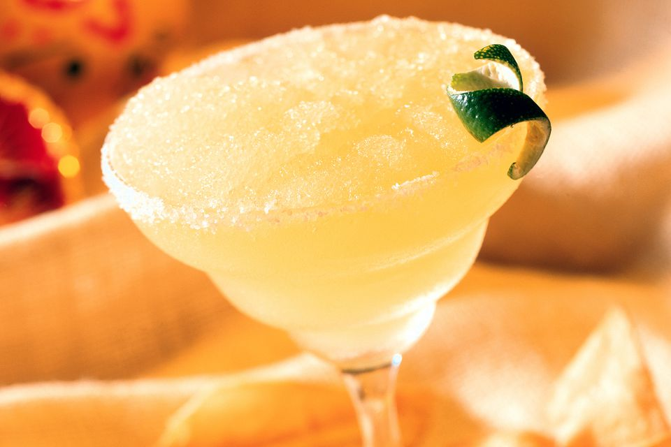 Frozen Peach Margarita Cocktail