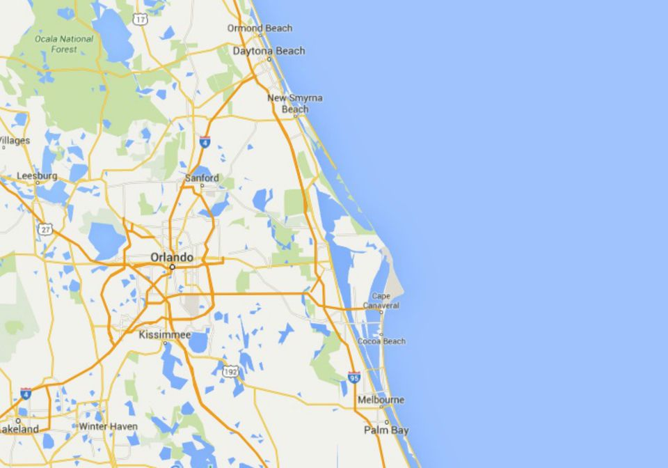 Maps Of Florida Orlando Tampa Miami Keys And More - Florida east coast map