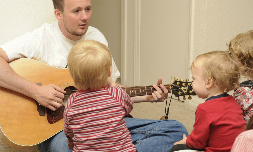 Toddlers enjoying music class