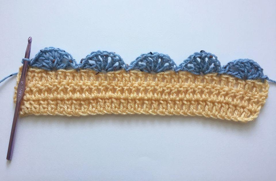 crochet scalloped edging pattern