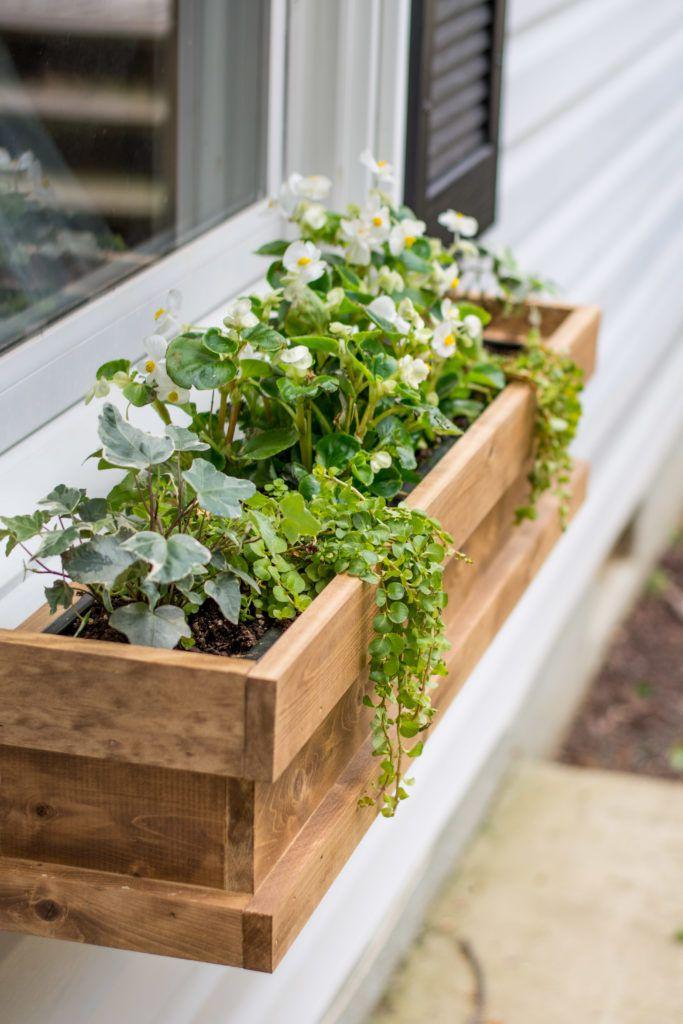 Outdoor decor ideas - cedar window boxes