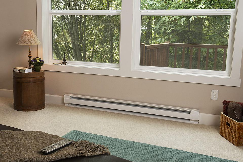 Electric baseboard heaters max and minimum spacing Baseboard height