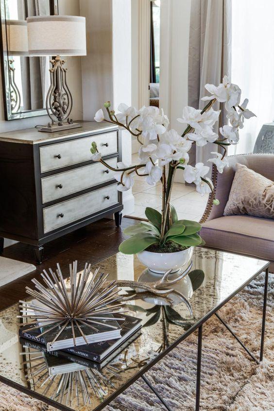An elegant coffee table display