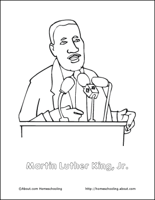 martin luther king jr speech coloring page - Martin Luther King Coloring Pages