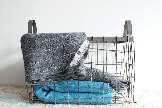 blankets in basket