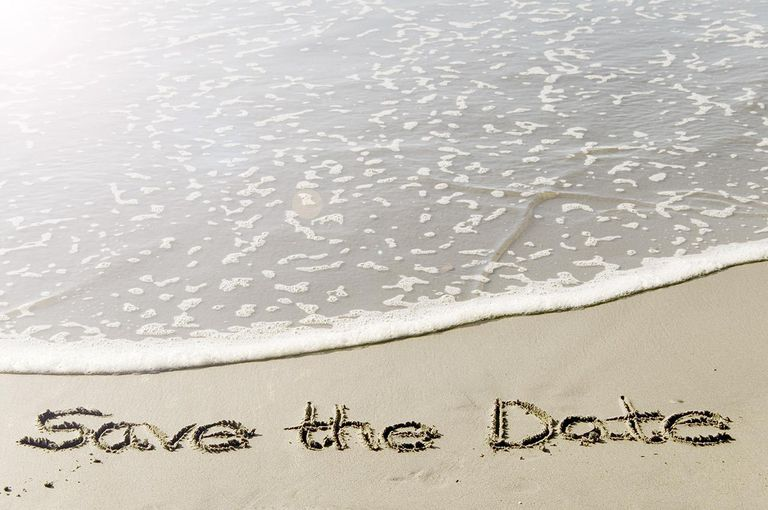 Save the date in sand