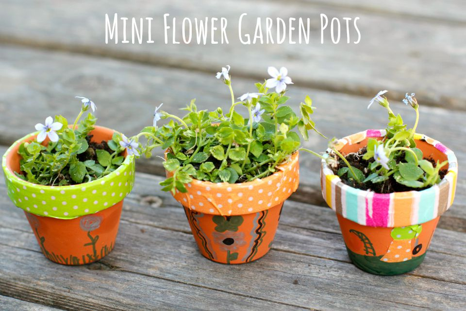 diy mini flower garden pots