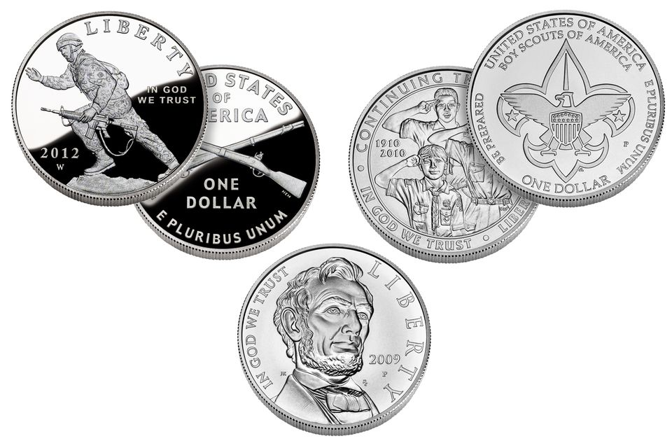Examples of Several United States Commemorative Silver Dollars