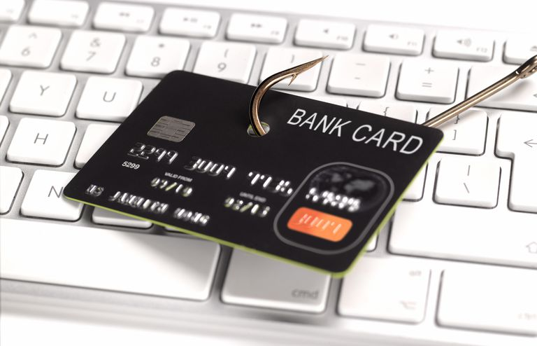 Bank Card on a hook
