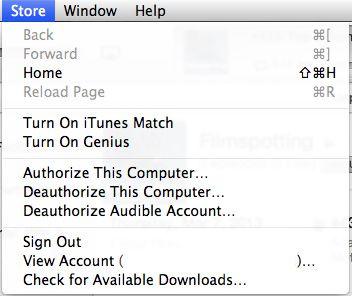 Set up iTunes Genius, step 1