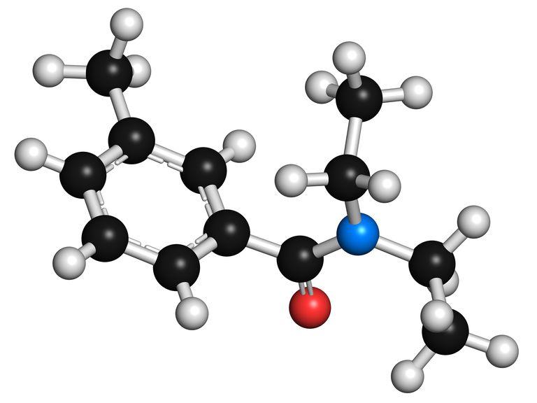 DEET is the most common active ingredient in insect repellents. DEET is N,N-Diethyl-m-toluamide or N,N-Diethyl-3-methylbenzamide.