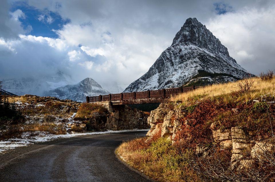 Road in Many Glacier Valley