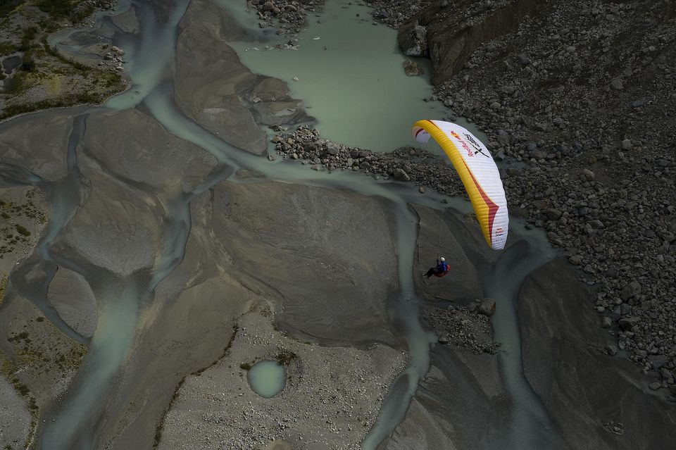 PAragliding during Red Bull X-Alps