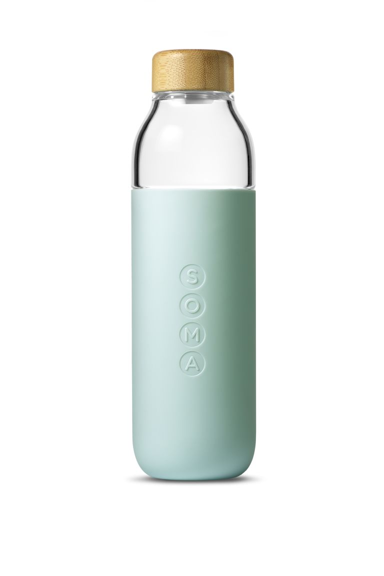Soma Glass water bottle in mint