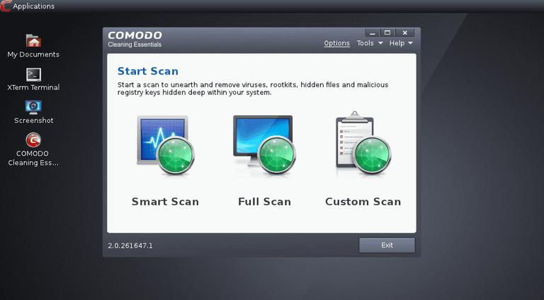 A screenshot of Comodo Rescue Disk v2