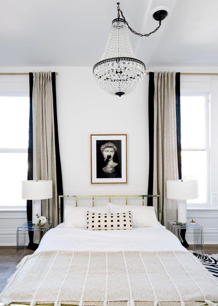 Determine an Interior Design Concept. glam black and white bedroom