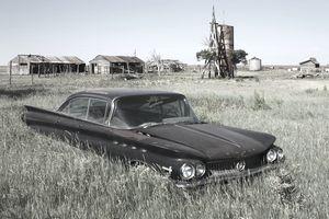 Abandoned Car on farm in Texas
