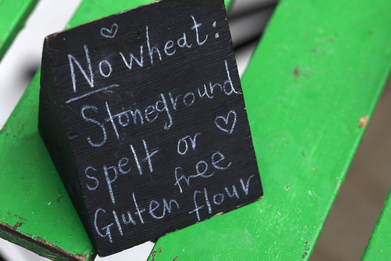 sign advertising 'no wheat'