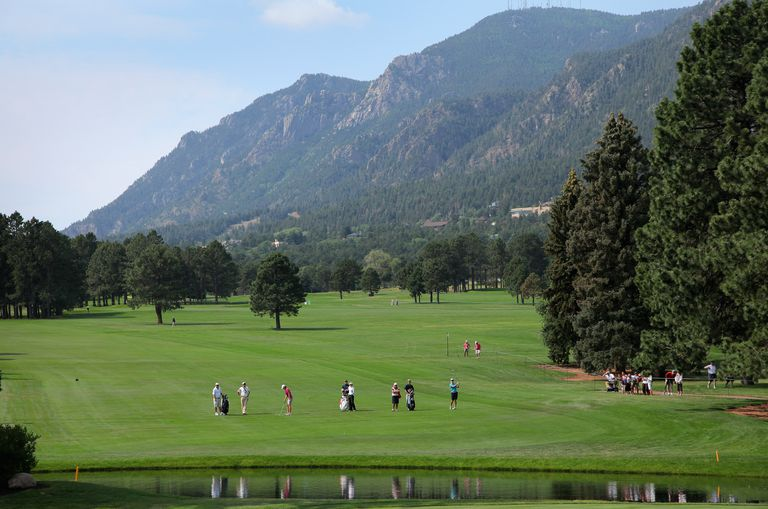 Scenic view of The Broadmoor golf course in Colorado.