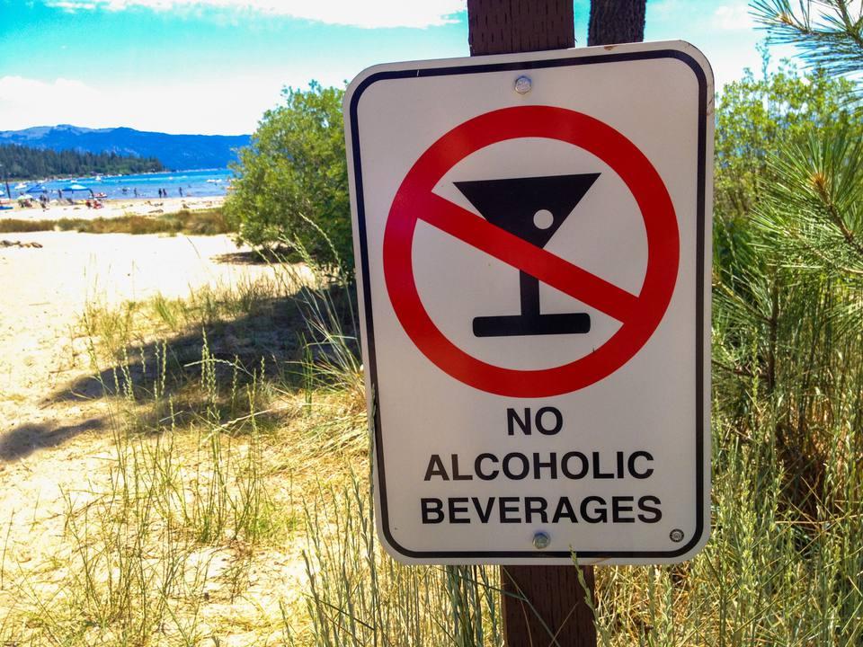 Close-Up Of No Alcohol Sign