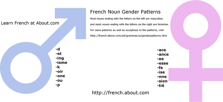 Some French gender patterns