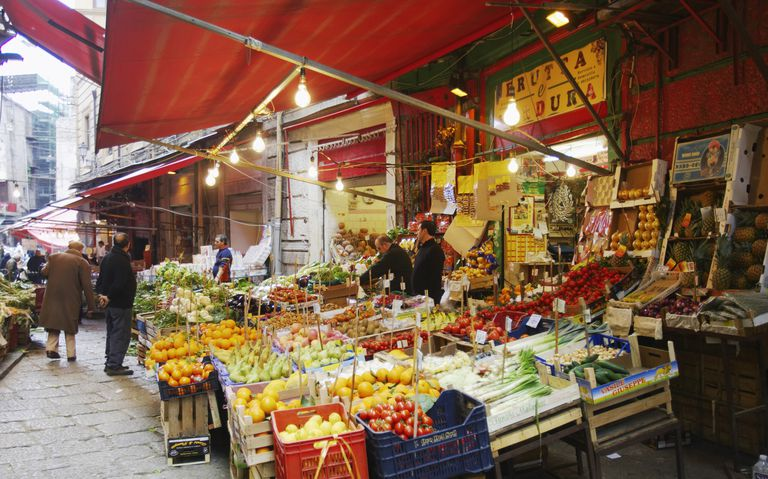 Fruit market in Piazza San Domenico in Palermo