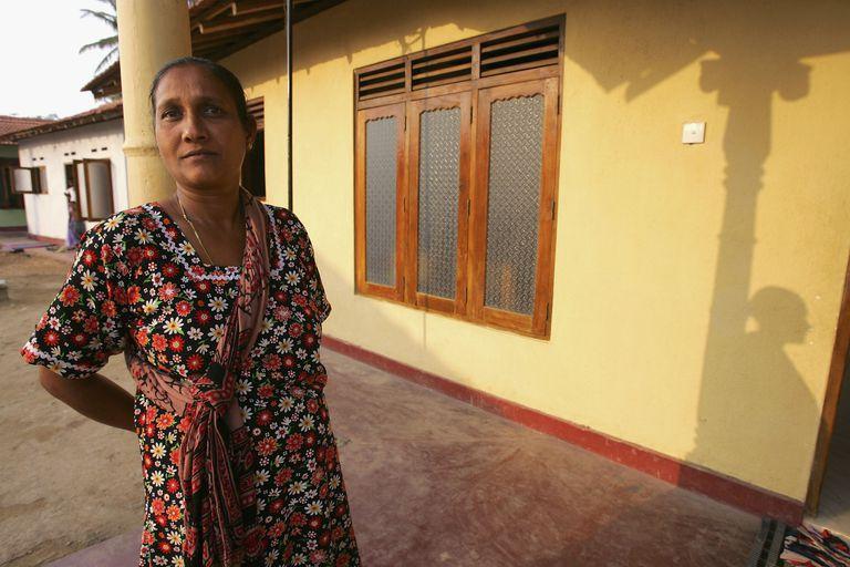 New Home for Tsunami Victim in Sri Lanka
