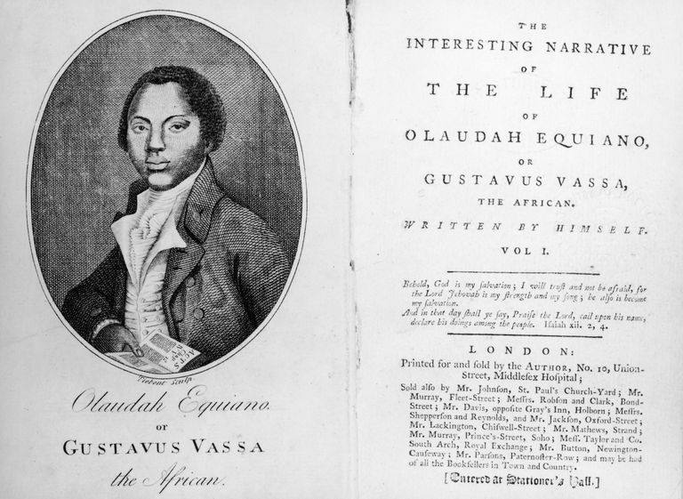 Image of book published by former slave Olaudah Equiano