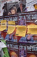Posters Advertising shows at Edinburgh