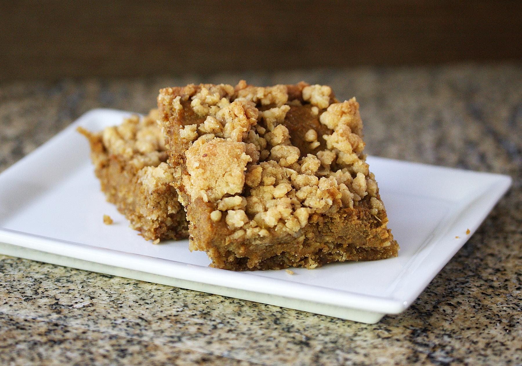 Pumpkin Squares with Oat Crust and Crumb Topping Recipe