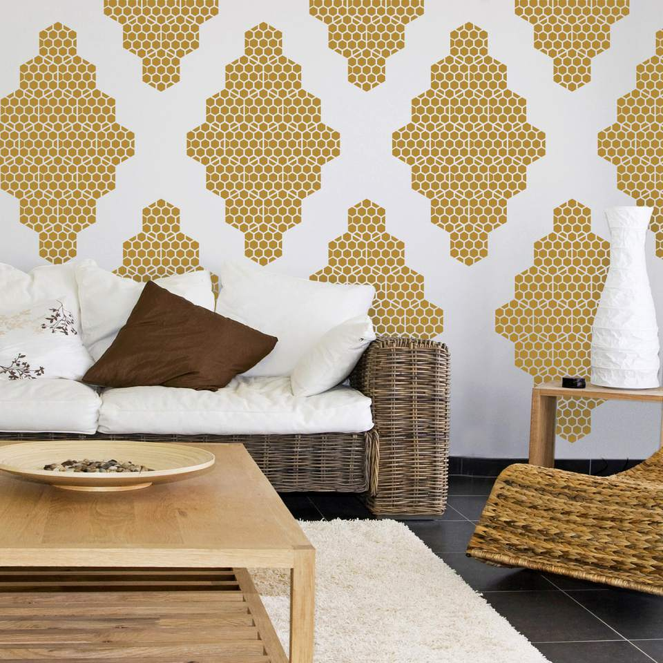 wall decal for living room. When You Can t Commit  honeycomb wall decal Honeycomb Wall Decal It s OK to Use Decals