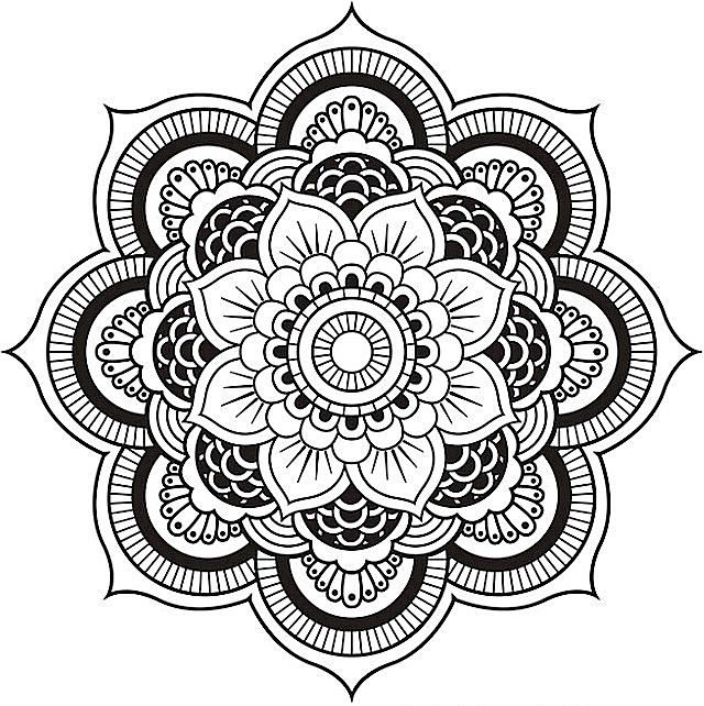 a floral mandala coloring pages - Advanced Mandala Coloring Pages