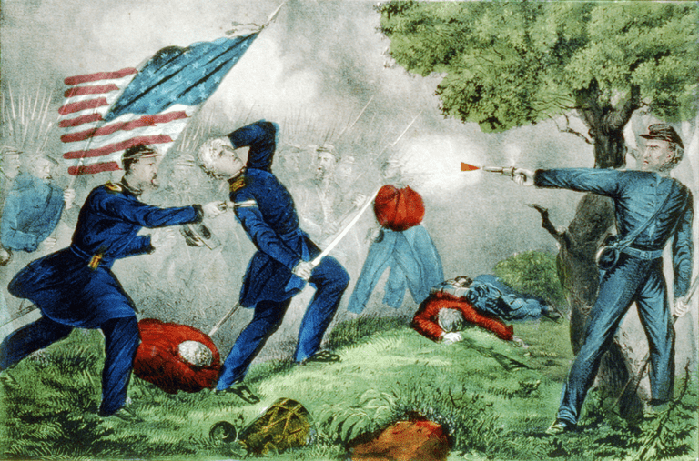 Fighting at Ball's Bluff