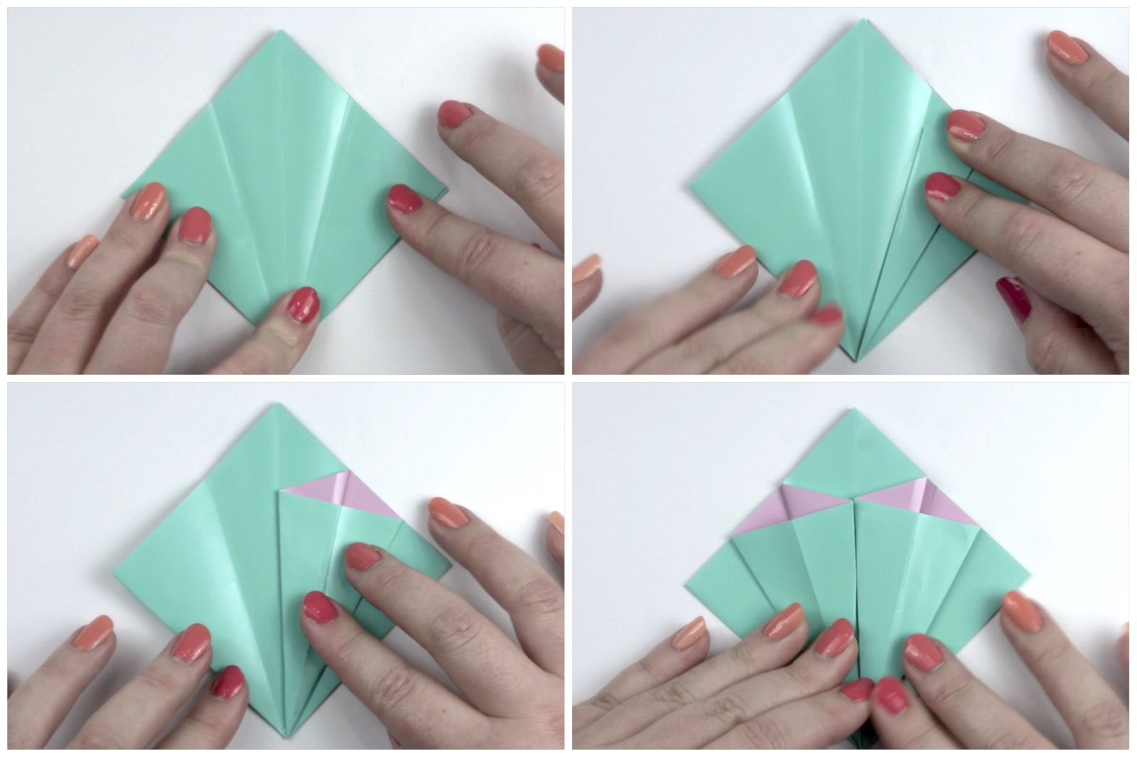 Really sweet flat origami flower … | Origami flowers tutorial ... | 1066x1600